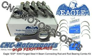 Ford 3 8l V6 Supercharged Eagle Rods H Beam With Rod Bearings