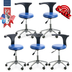 5 Dentist Doctor Assistant Dental Stool Adjustable Height Mobile Rotation Chair