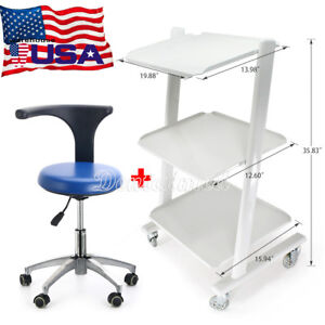 Medical Metal Mobile Tool Cart Trolley Instrument Dentist Rotation Stool Chair