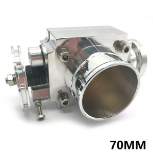 Silve 70mm 2 75 Throttle Body Alloy Aluminum Racing Cnc Billet Intake Universal