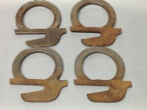 4 Antique Vintage Cast Iron Bed Bracket Parts