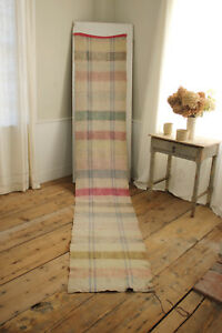 Rag Rug Vintage European Carpet Stair Runner 143 By 23 75 Inches Muted Tones