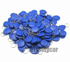 New 100pcs Rfid 125khz Proximity Rfid Id Card Key Tags keyfobs capt2011