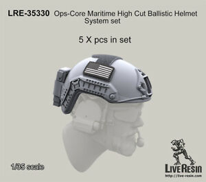 Live Resin 35330 135 Ops-Core Maritime High Cut Ballistic Helmet System Set
