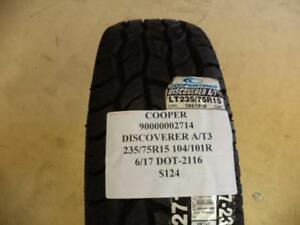 1 New Cooper Discoverer A t3 235 75 15 104 101r Tire 90000002714