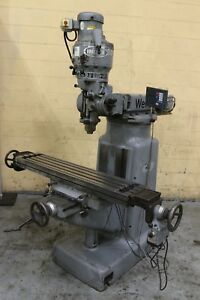 3 Hp Wells Index Vertical Knee Mill Yoder 70646