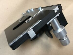Leitz Microscope X y Stage With Specimen Clip Condenser Sub stage Ortholux
