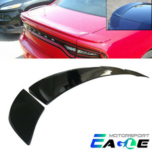 Fits 2015 2018 Dodge Charger Matte Factory Style Black Rear Trunk Wing Spoiler
