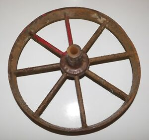 Vintage Wagon Wheel Tractor Farm Implement Tool Cart Steampunk