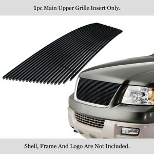 Fits 2003 2006 Ford Expedition Stainless Steel Black Billet Grille Insert