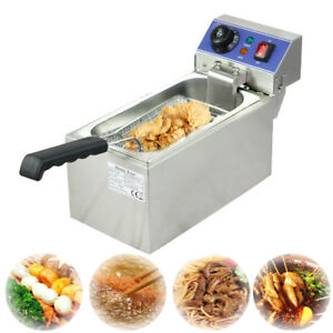 Electric Deep Fryer Small Commercial Kitchen Cooking Warming Equipment Cn Stock