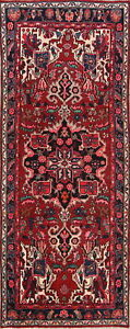 Vintage One Of A Kind Bakhtiari Persian Hand Knotted 9 Ft Runner Rug 9 5 X 3 8