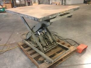 Lift Table Hydraulic 4k Lb 110v 42 X 48 Top Foot Control Used