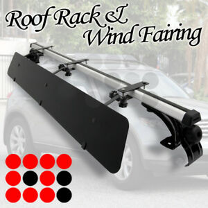 Fit Benz Nissan Rooftop Rack 50 Cross Bars Luggage Carrier wind Fairing