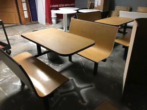 Restaurant Booths And Round Tables Used Good Condition Heavy Solid