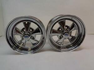 Cragar 61c Series S S Super Sport 15x7 5x120 Chrome Pair Of Wheels 362 153409