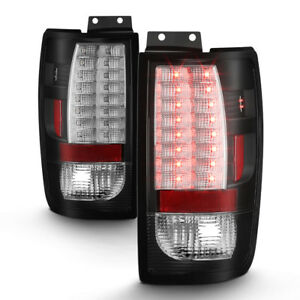 Black 1997 2002 Ford Expedition Led Tail Lights Brake Lamps Left Right