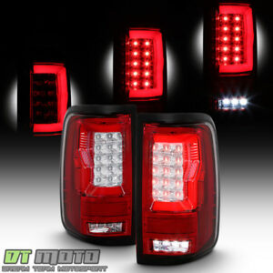 2004 2008 Ford F150 Lobo Full Led Light Tube Tail Lights Brake Lamps Left right