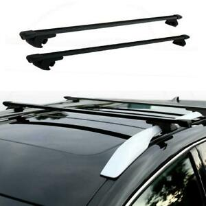 48 Universal Steel Roof Top Rail Rack Car Cross Bars Luggage Carrier With Lock
