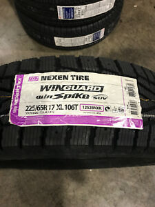 1 New 225 65 17 Nexen Win Guard Win Spike Suv Snow Tire