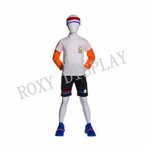 Egghead Boy Sport Mannequin Standing Pose Hands In The Back mz yd k02