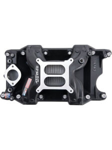Edelbrock Intake Manifold Performer Rpm Air Gap Black Mopar 318 340 360 75763