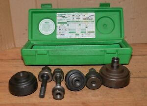 Greenlee Conduit Knockout Punch 2 2 1 4 3 3 1 2 Metal Working Tool Lot