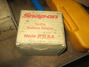 Snap On Cooling System Pressure Test Radiator Cap Adapter Ta32a Chevrolet Buick