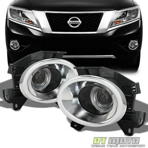 Fits 2013 2014 Pathfinder Halo Projector Bumper Fog Lights W switch Left right