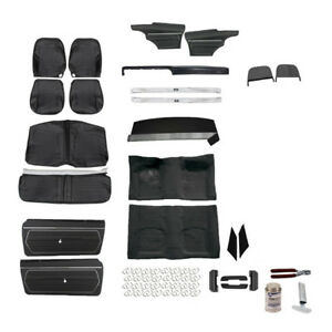 Standard Complete Black Interior Kit 1969 Camaro Conv Bucket Seats