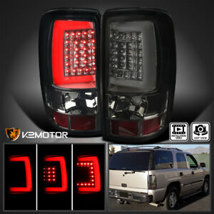 For 2000 2006 Chevy Suburban Tahoe Yukon Denali Led Drl Bar Smoke Tail Lights