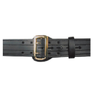 Boston Leather 6504 1 34 Black Plain Nickel Stitched 2 25 Tactical Duty Belt