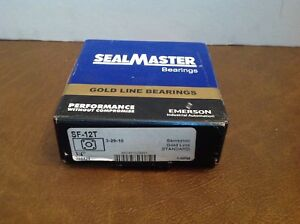 Sealmaster Sf 12t Four Bolt 3 4 Flange Bearing New Sf12t New