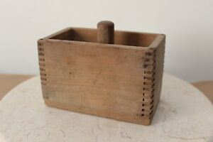 Antique Wooden Dovetailed Butter Press