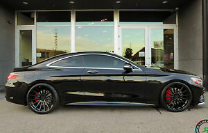 22 Rf15 Staggered Black Wheels For Mercedes S400 S550 S600 S63 S65 Concave 4
