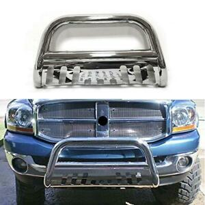 Fit 2009 18 Dodge Ram 1500 Front Brush Push Bumper Bull Bar Grill Grille Guard