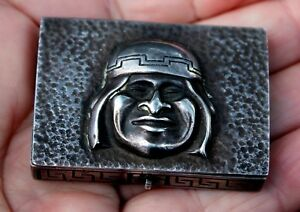 Beautiful Small Old Antique Handmade 900 Sterling Silver Hinged Box Lima Peru