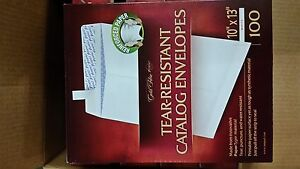1 Case 5 Boxes 100 Ct Ampad Tear Resistant Catalog Envelopes 500 Total