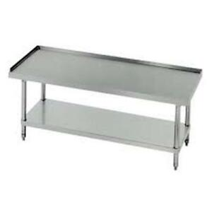 Advance Tabco 72 X 30 S s Equipment Stand 18 Gauge With Galvanized Shelf
