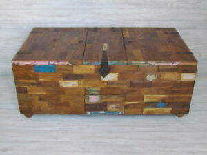 Rustic Multi Storage Indian Chest Tv Stand Reclaimed Wood W Iron