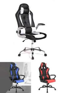 Executive Office Gaming Chair Back Lumbar Support Swivel Adjustable Armrest