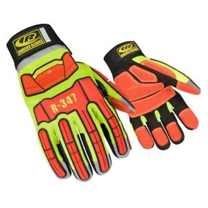 Ringers 347 Extrication Tpr Protected Hi Vis Reflective Work Gloves Size Xs 3xl