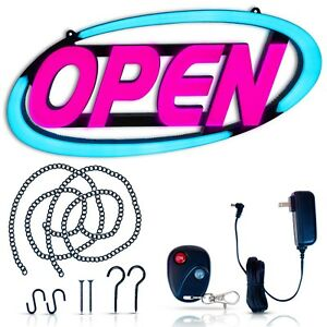 Led Open Sign For Business Stand Out With 64 Super bright Color Combos To Your