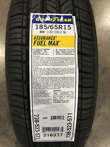 4 New 185 65 15 Goodyear Assurance Fuel Max Tires