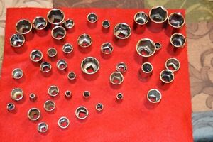 Craftsman Usa 3 8 Dr Sae And Metric Shallow Socket 6 And 12 Point