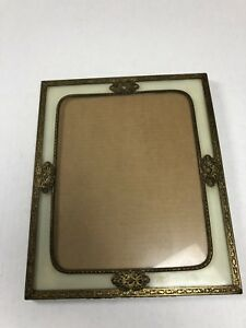 Vintage 8x10 Square Ornate Bronze Brass Metal Picture Frame