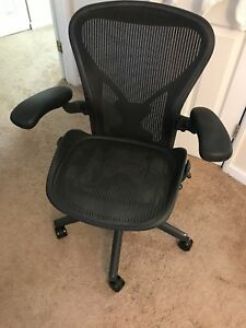 Herman Miller aeron Chair Size B Fully Loaded Fully Adjustable