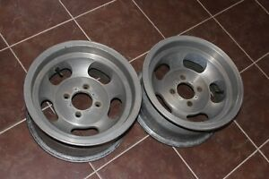 Datsun 240z 260z 280z Shelby Cal 500 Alloy Slotted Mag Wheel Pair 14 X 7 Used