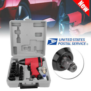 New 17pc 1 2in Twin Hammer Air Impact Wrench Gun Set W Sockets Us Adapter