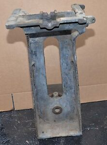 Antique Cast Iron Machinery Base Anvil Vise Stand Steam Punk Industrial Table